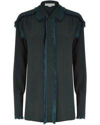 Stella McCartney - Fringed Trim Textured Shirt - Lyst