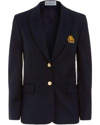 Claudie Pierlot - Embroidered Crest Blazer - Lyst
