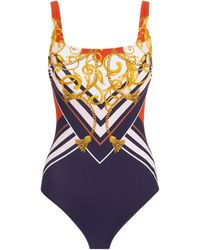 Gottex Nautical Print Swimsuit - Blue