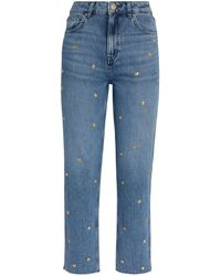 Claudie Pierlot Embellished Straight Jeans - Blue
