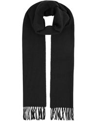 Harrods Fringed Wool Scarf - Black