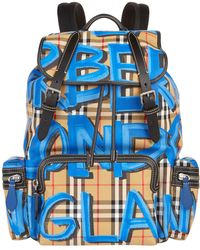 Burberry - Large Graffiti Vintage Check Backpack - Lyst