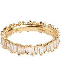 Suzanne Kalan Yellow Gold And Diamond Fireworks Eternity Ring - White