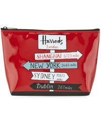 Harrods - Sign Posts Travel Pouch - Lyst