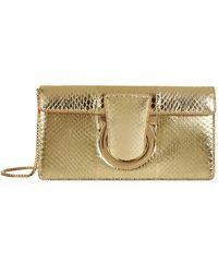 Ferragamo - Thalia Leather Clutch Bag - Lyst