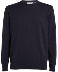 Richard James Cotton Lightweight Sweater - Blue