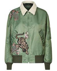 La Bête - Embroidered Tiger Bomber Jacket - Lyst