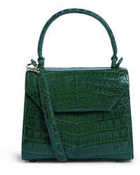 Nancy Gonzalez Crocodile Lily Top Handle Bag - Green