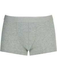 Sunspel Stretch-cotton Trunks - Grey