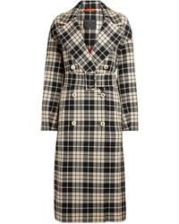 Mother Of Pearl Meg Contrast Check Trench Coat - Multicolour