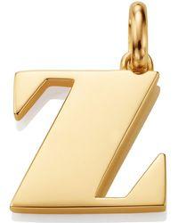 Monica Vinader - Gold Capital Z Pendant - Lyst