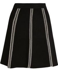 Sandro Trim-detail Skirt - Black