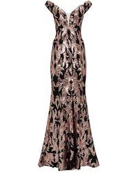 Jovani Sequin Baroque Gown - Pink