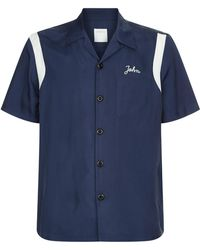 Sandro - Embroidered Bowling Shirt - Lyst