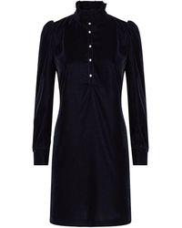 Claudie Pierlot Velvet Victorian Dress - Blue