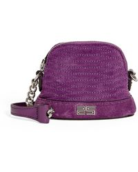 Sandro Baby Quilted Suede Cross-body Bag - Purple