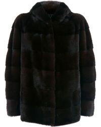 Lilly E Violetta - Hooded Mink Fur Jacket - Lyst