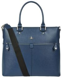 Vivienne Westwood - Saffiano Leather Tote Bag - Lyst