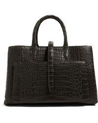 Nancy Gonzalez Crocodile Astrid Tote Bag - Grey