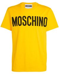 Moschino Logo T-shirt - Yellow