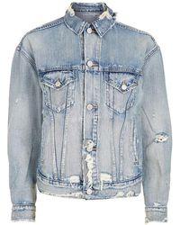 Denim & Supply Ralph Lauren - Distressed Denim Jacket - Lyst