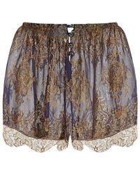 Rosamosario Rosa Lace Pyjama Shorts - Multicolour