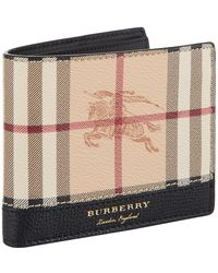 Burberry - Haymarket Check Printed Billfold Wallet - Lyst