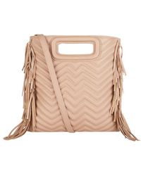Maje - Quilted Bag With Fringe - Lyst