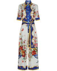 Dolce & Gabbana - Mambo Silk Jumpsuit - Lyst