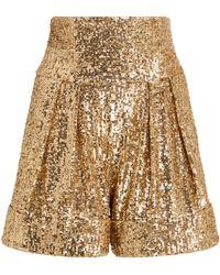 Balmain Sequin Shorts - Metallic