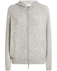 Allude Zip-up Hoodie - Gray