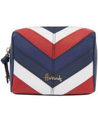 Harrods Union Jack Stratford Cosmetic Bag - Blue