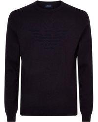 Armani Jeans - Tonal Eagle Sweater - Lyst