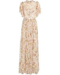 Needle & Thread Embellished Honesty Garland Gown - Pink