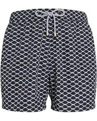 BLUEMINT Printed Logan Swim Shorts - Blue