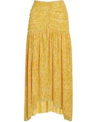 MISA Los Angles Dalida Midi Skirt - Yellow