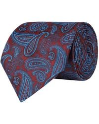 Pal Zileri Silk Paisley Pattern Tie - Red