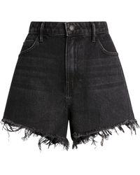 Alexander Wang - Frayed-edge Denim Shorts - Lyst