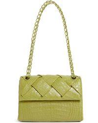 Nancy Gonzalez Crocodile Madison Shoulder Bag - Green