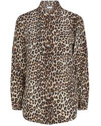 Equipment Leopard Print Silk Shirt - Natural