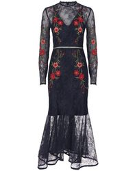 Keepsake - Dreamscape Embroidered Lace Dress - Lyst