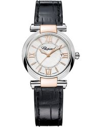 Chopard - Stainless Steel And Rose Gold Imperiale Watch 28mm - Lyst