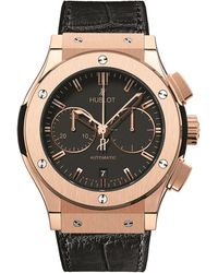 Hublot Classic Fusion 45mm Chronograph King Gold Watch - Black