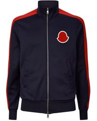 Moncler Stripe Sleeve Zip-up Cardigan - Blue