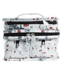 Harrods Shadow 4-in-1 Cosmetic Bag Set - Multicolour