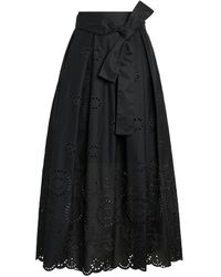 MAX&Co. St. Gallen Embroidered Maxi Skirt - Black