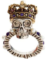 Alexander McQueen | King Skull Ring | Lyst