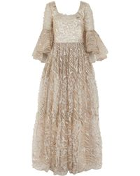 Badgley Mischka - Tulle Sequin Ball Gown - Lyst