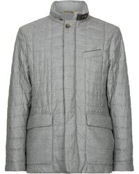 Canali - Quilted Flannel Jacket - Lyst