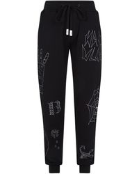 Haculla Embroidered Joggers - Black